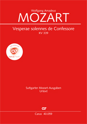 Wolfgang Amadeus Mozart: Vesperae solennes de Confessore