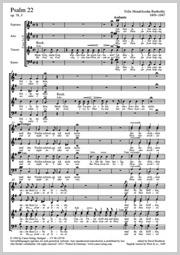 Felix Mendelssohn Bartholdy: Mein Gott, warum hast du mich verlassen (Psaume 22)