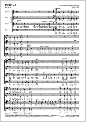 Felix Mendelssohn Bartholdy: Mein Gott, warum hast du mich verlassen (Psalm 22)