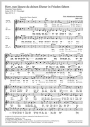 Felix Mendelssohn Bartholdy: Lord, now lettest thou thy servant depart