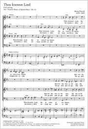 Henry Purcell: Thou knowest Lord / Du kennst, o Herr, verborgnes Herzeleid