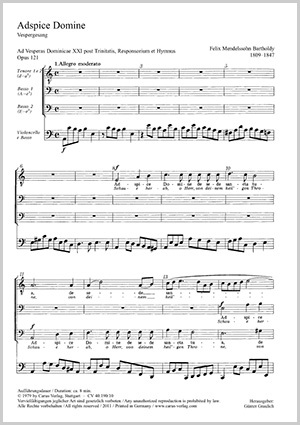 Felix Mendelssohn Bartholdy: Adspice Domine