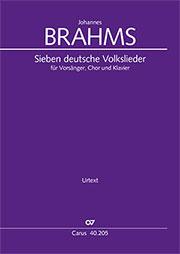 Brahms: Sieben deutsche Volkslieder