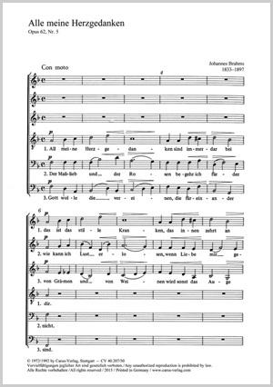 Johannes Brahms: All meine Herzgedanken