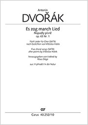 Antonín Dvorák: Es zog manch Lied / Napadly písne