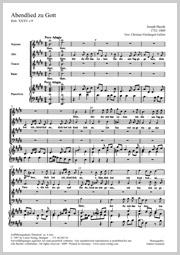 Joseph Haydn: Abendlied zu Gott