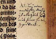 Johann Sebastian Bach: Eintrag in die Calov-Bibel