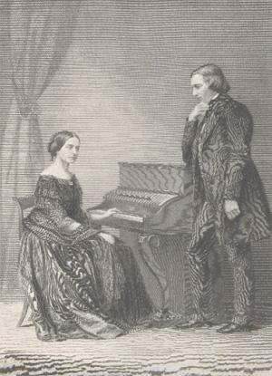 Moritz Lämmel: Robert und Clara Schumann am Klavier