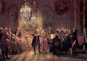 Adolf von Menzel: Das Flötenkonzert in Sanssouci