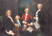 Balthasar Denner: Johann Sebastian Bach mit drei seiner Söhne