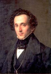 Theodor Hildebrandt: Felix Mendelssohn Bartholdy, 38-jährig