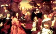 Johannes Voorhout: Häusliche Musikszene (Dietrich Buxtehude)