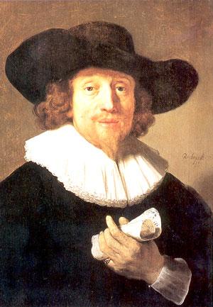 van Rijn Rembrandt: Bildnis eines Musikers, vermutlich Heinrich Schütz