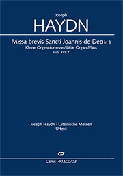 Joseph Haydn: Missa brevis Sancti Joannis de Deo en si bémol majeur