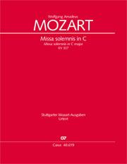 Wolfgang Amadeus Mozart: Missa solemnis in C