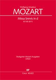 Wolfgang Amadeus Mozart: Missa brevis in D minor