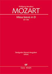 Wolfgang Amadeus Mozart: Missa brevis in D major