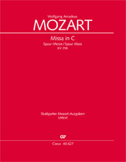 Wolfgang Amadeus Mozart: Mass in C major