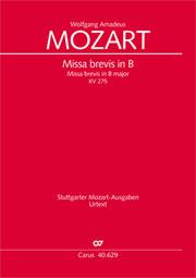 Wolfgang Amadeus Mozart: Missa brevis in B
