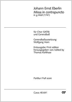 Johann Ernst Eberlin: Missa in contrapuncto in g