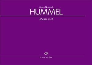 Johann Nepomuk Hummel: Messe in B
