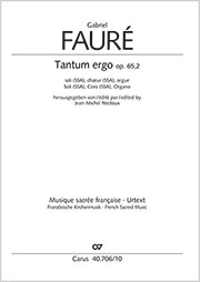 Gabriel Fauré: Tantum ergo in E major