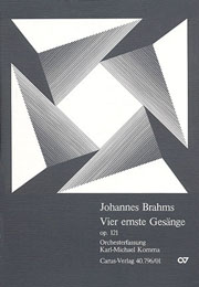 Brahms: Vier ernste Gesänge op. 121 (arr Komma)