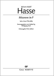 Johann Adolf Hasse: Miserere in F