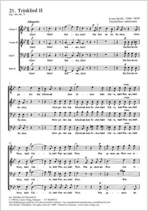 Louis Spohr: Trinklied (II)