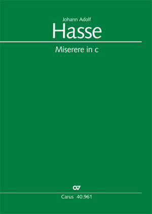 Johann Adolf Hasse: Miserere in c