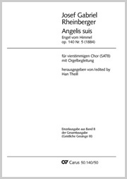 Josef Gabriel Rheinberger: Angelis suis / Engel vom Himmel