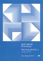 Rheinberger: Streichquartett Nr. 2 (2 Fassungen)