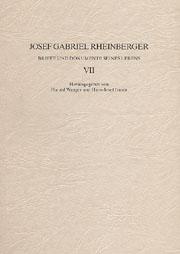 Josef Gabriel Rheinberger: Briefe und Dokumente seines Lebens VII