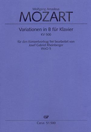 Wolfgang Amadeus Mozart: Thème et variations en si bémol majeur