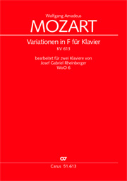 Wolfgang Amadeus Mozart: Thema with variations in F major