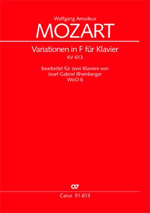 Wolfgang Amadeus Mozart: Variationen in F