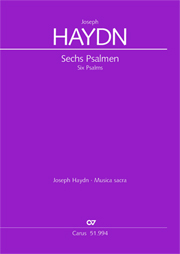 Haydn: Sechs Psalmen Hob. XXIII Anhang