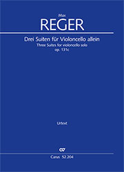 Reger: Three Suites for violoncello solo op. 131c