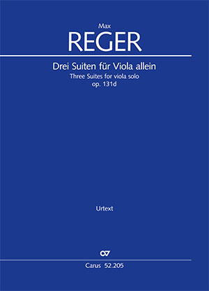 Reger: Three Suites for viola solo op. 131d