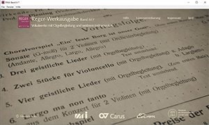 Reger Edition of Work, vol. II/7: Vocal works with organ accompaniment