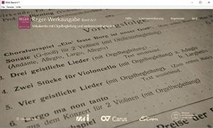 Reger-Werkausgabe, Bd. II/7: Vokalwerke mit Orgelbegleitung und weiteren Instrumenten