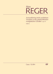 Reger: 52 easy preludes for the most common Lutheran chorales op. 67, Volume 3