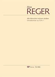 """Max Reger: Choralphantasie """"Alle Menschen müssen sterben"""""""
