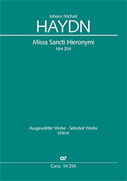 Johann Michael Haydn: Missa Sancti Hieronymi