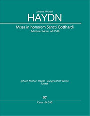 Johann Michael Haydn: Missa in honorem Sancti Gotthardi