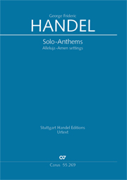 Händel: Solo-Anthems. Alleluja-Amen settings