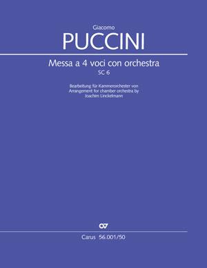 """Giacomo Puccini: Messa a 4 voci con orchestra (""""Messa di Gloria""""). Fassung für Kammerorchester arr. Joachim Linckelmann"""