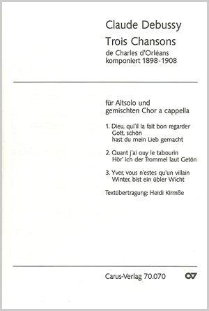 Debussy: Three Songs full score | Carus-Verlag
