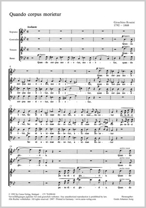 Gioachino Rossini: Quando corpus morietur