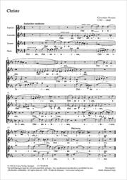 Rossini: Christe eleison; Sanctus